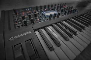 Ein schwarzes Keyboard.